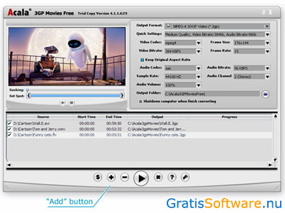 Acala 3GP Movies Converter screenshot