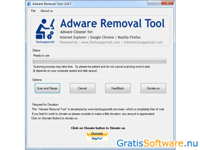 Adware Removal Tool screenshot