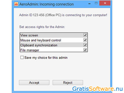 AeroAdmin screenshot