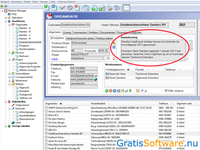 Alexion CRM screenshot