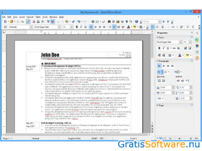 Apache OpenOffice Writer screenshot