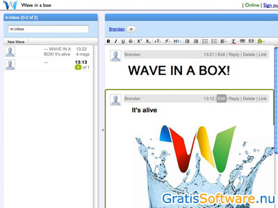 Apache Wave screenshot