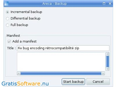 Areca Backup screenshot