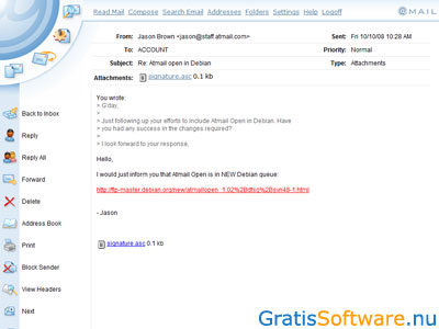 AtMail screenshot