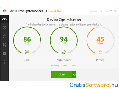 Avira Free System Speedup screenshot