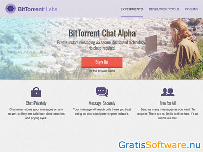 BitTorrent Chat screenshot