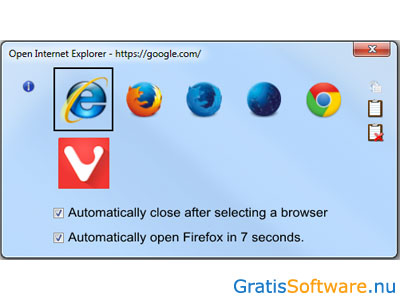 Browser Chooser 2 screenshot