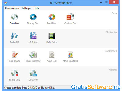 BurnAware Free screenshot