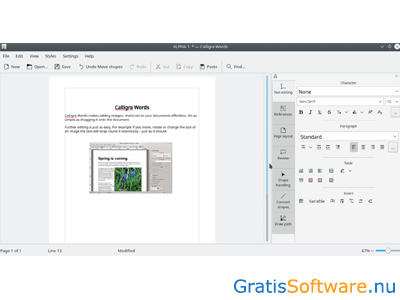 Calligra Suite screenshot