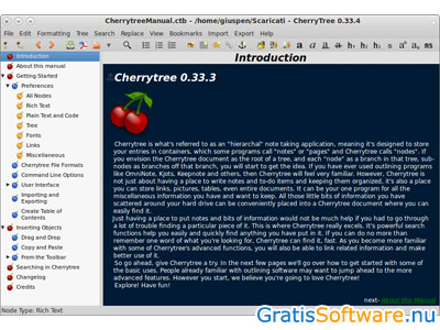 Cherrytree screenshot