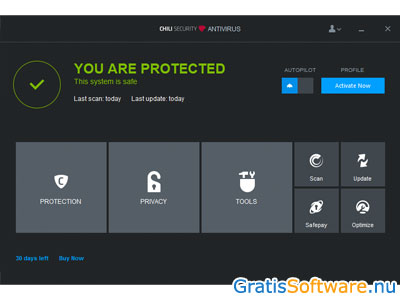 Chili Security Free Antivirus screenshot