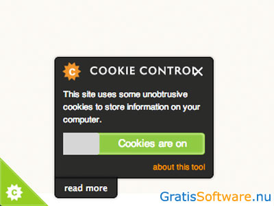 CIVIC Cookie Control screenshot