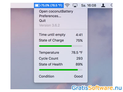 CoconutBattery screenshot