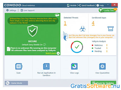 Comodo Cloud Antivirus screenshot