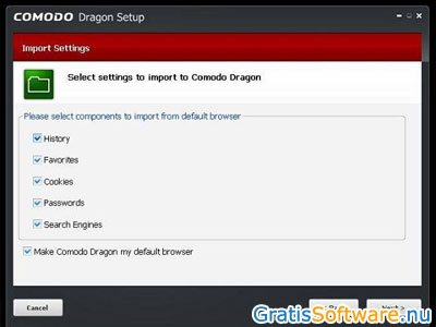 Comodo Dragon Internet Browser screenshot