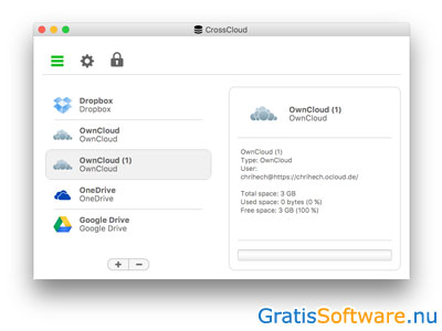 CrossCloud screenshot