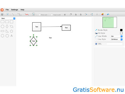 Diagramo screenshot