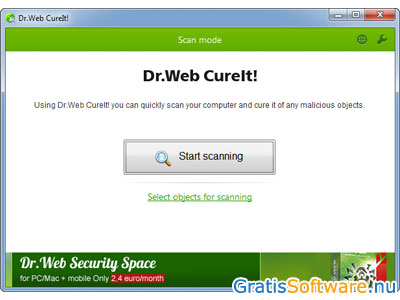 Dr.Web CureIt! screenshot