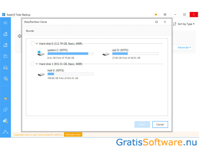 EASEUS Todo Backup screenshot