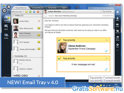 EmailTray screenshot