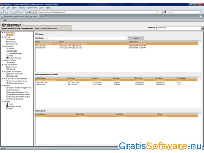 Endeavour Agile ALM screenshot