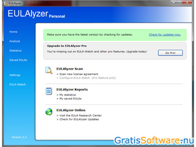 EULAlyzer screenshot