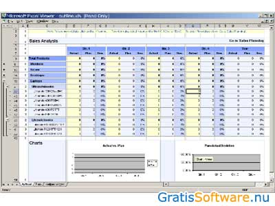 Microsoft Excel Viewer screenshot