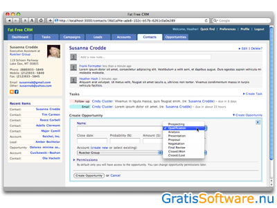 Fat Free CRM screenshot