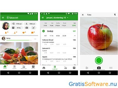 aankomen dieet app