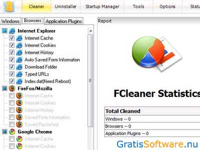FCleaner screenshot