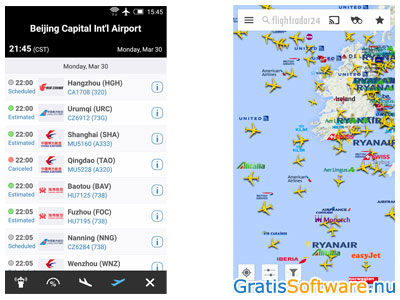 Flightradar24 screenshot