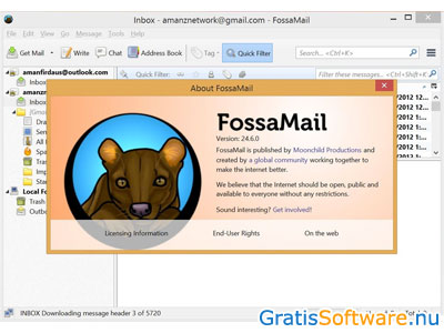 FossaMail screenshot
