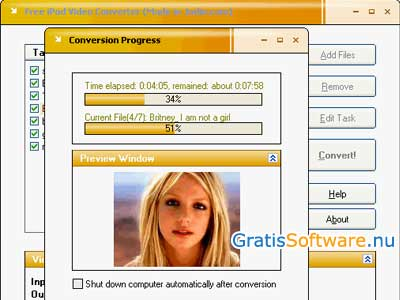 Free iPod Video Converter screenshot