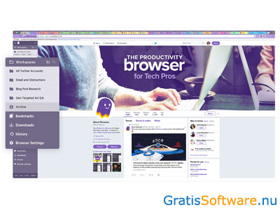 Ghost Browser screenshot