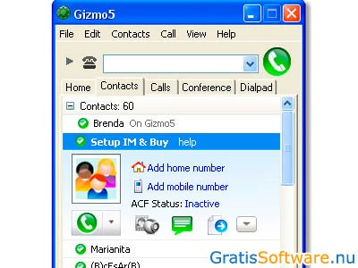 Gizmo5 screenshot