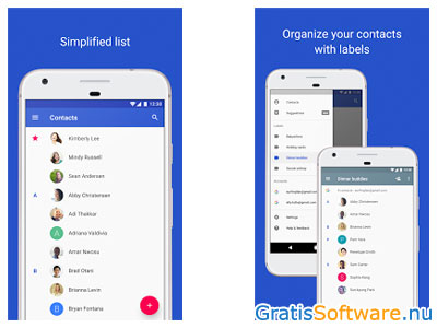 Google Contacts screenshot