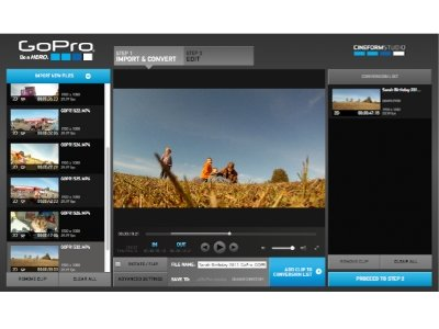 GoPro Studio screenshot
