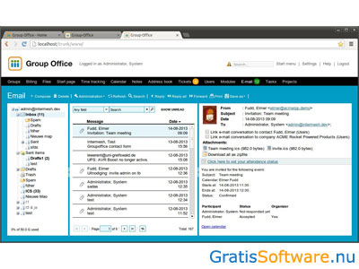 Group-Office screenshot