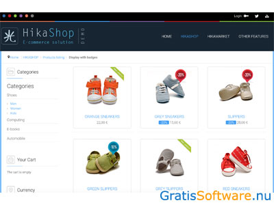 HikaShop screenshot
