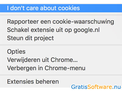 I don't care about cookies screenshot