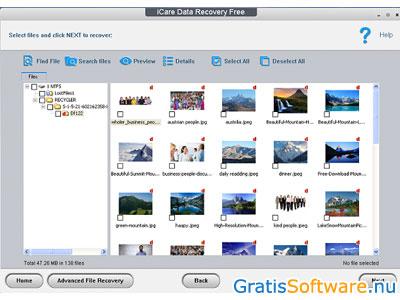 gratis gewiste of verwijderde bestanden herstellen software