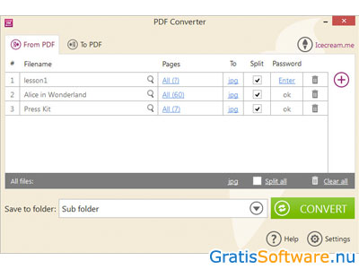 Icecream PDF Converter screenshot