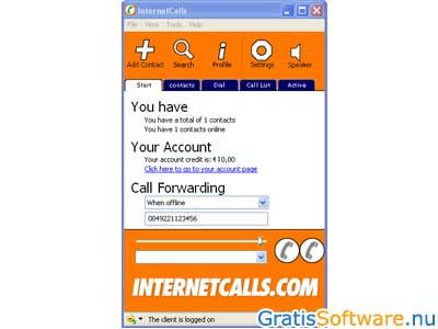 Internetcalls screenshot