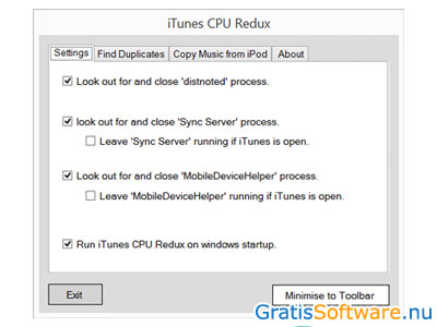iTunes CPU Redux screenshot