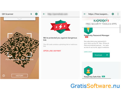 Kaspersky QR Scanner screenshot