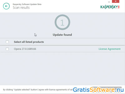 Kaspersky Software Updater screenshot