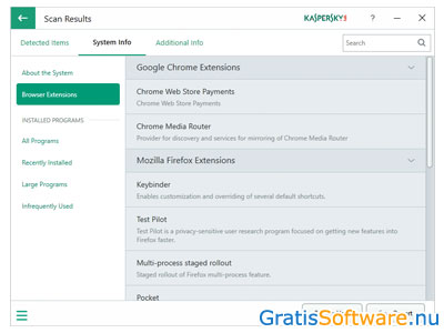 Kaspersky System Checker screenshot