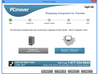 Laplink PCmover Express screenshot