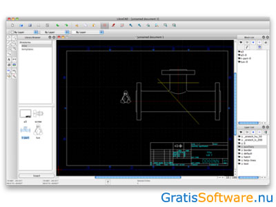 Librecad downloaden open source 2d cad software for Badkamer tekenen programma