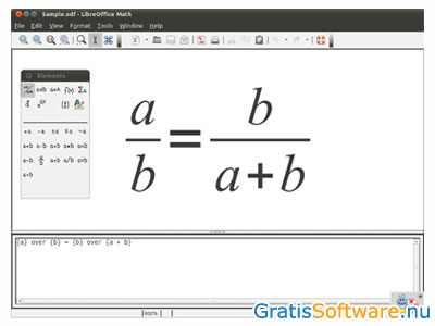 LibreOffice Math screenshot
